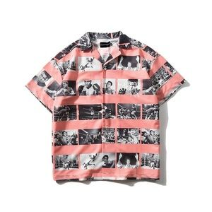 Mohammed Ali printed button down